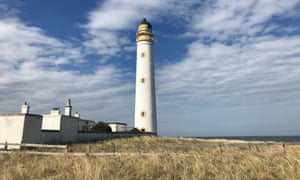 The lighthouse and cottages at Barns Ness.