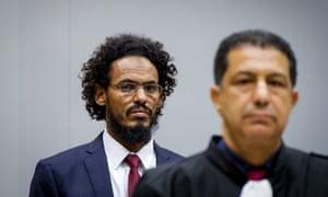 Ahmad al-Faqi al-Mahdi at the international criminal court last September.