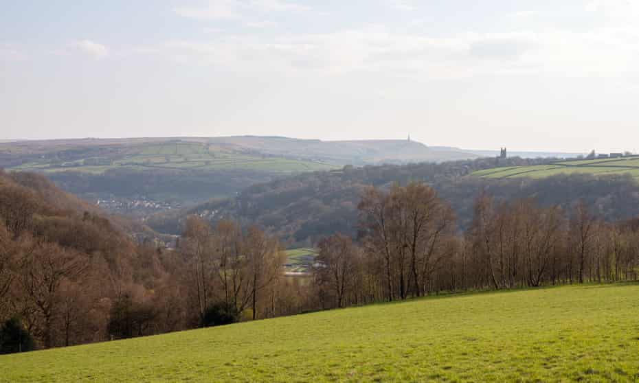 The peaceful view over the Calder Valley.