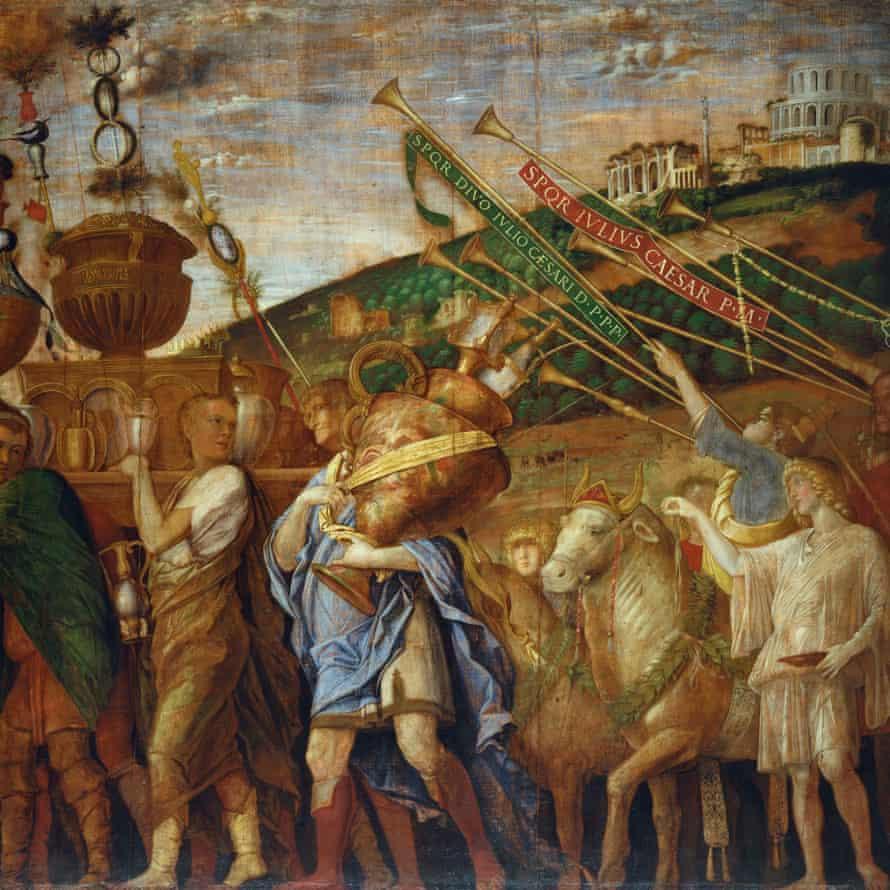 Treasure … Triumph of Caesar: The Vase Bearers, c. 1484-92 by Andrea Mantegna.