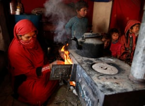 Kabul, Afghanistan An internally displaced family shelter in a refugee camp