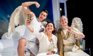 Mysterious ways … Tom Bowen, Zoe Lyons and Matt Tedford in An Act of God.