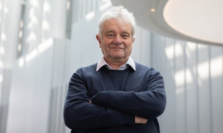 Sir Paul Nurse at the Francis Crick Institute in London. He said: 'When we try to buy the equipment we're told we can't buy it because it's all earmarked for the Lighthouse labs.'