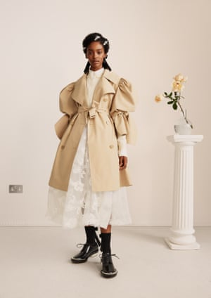 Simone Rocha has been on H&M's collaboration wish list for a long time, says Ann-Sofie Johansson, the brand's creative advisor. Fans of her cloqué dresses and beaded accessories are thrilled that H&M has signed her up for a full collection, including menswear and kidswear. Trench, £139.99, skirt, £149.99, brogues, £199.99.