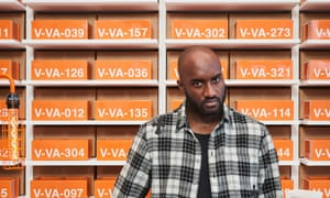 Building a reputation: Virgil Abloh and his orange bricks.