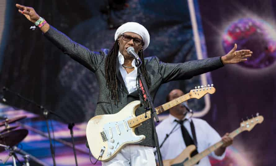 Nile Rodgers of Chic performs at last year's Glastonbury.