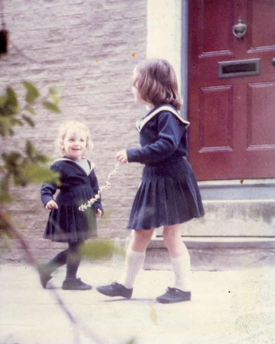 Bee Wilson (left) and her sister, aged two and four.