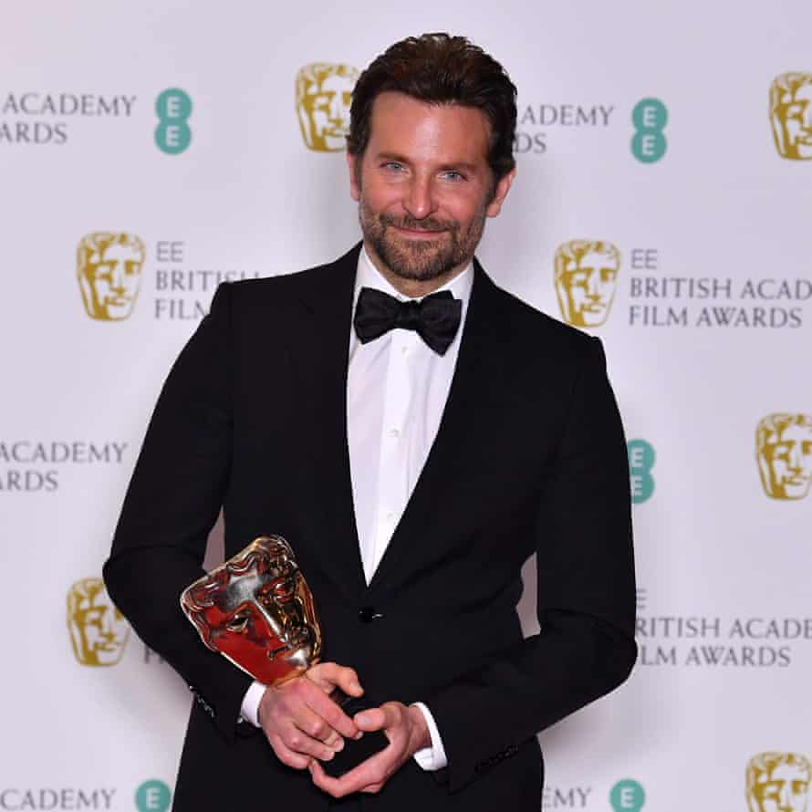 Bradley Cooper with his sole Bafta.