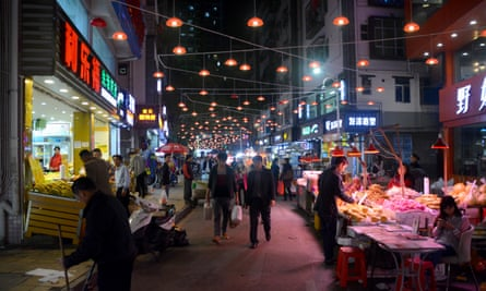 A night market in Shuiwei village, Shenzhen. It is one of many urban villages that China has renovated.