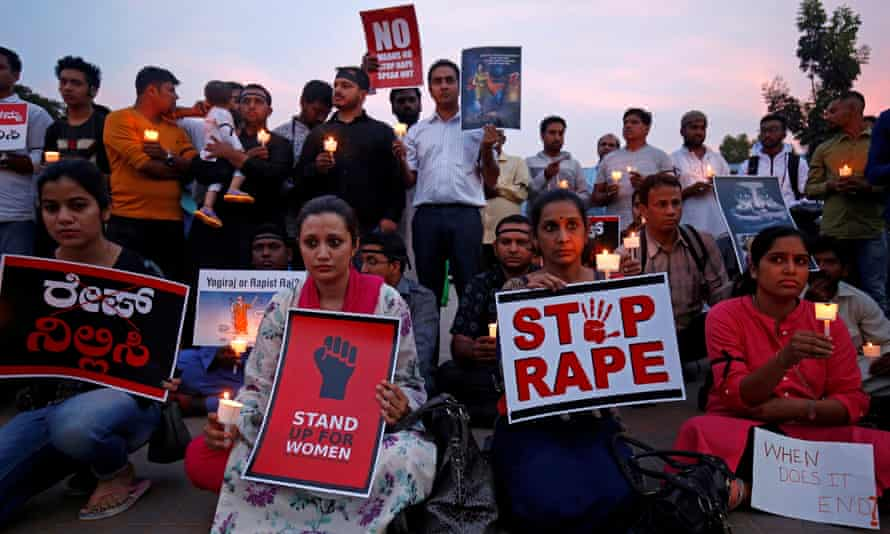 A protest against a series of rapes, spotlighting India's problem with sexual violence