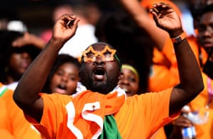 You can always rely on the Ivory Coast supporters to add some colour