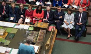 Jeremy Corbyn with shadow cabinet members at PMQs, June 2019