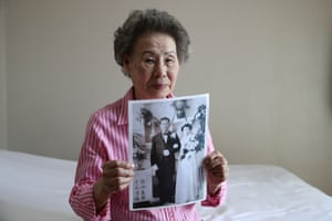 Lee Choon-Ja, 88, holds photo of her South Korean husband the day before departing for North Korea for a family reunion at a hotel used as a gathering point, in Sokcho, near the Demilitarized Zone (DMZ) on August 19, 2018 in Sokcho, South Korea.