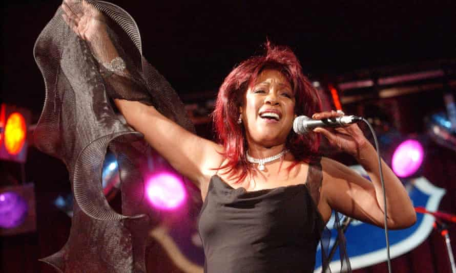 Mary Wilson performs on stage