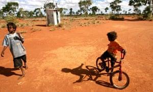 Indigenous children in the Utopia, 200km north of Alice Springs