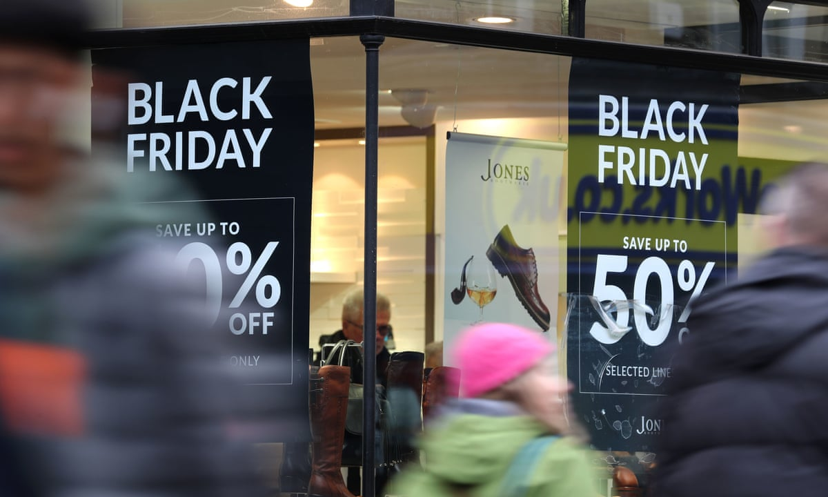 Black Friday Shoppers Take To Their Mobile In Search Of Best Deals Business The Guardian