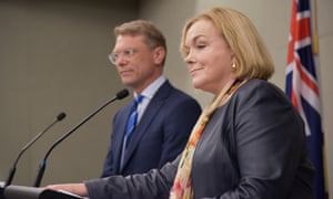 New Zealand Opposition Leader Judith Collins (right) and Opposition Finance Spokesman Paul Goldsmith
