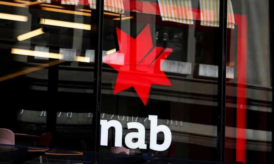 National Australia Bank logo at a branch in Sydney