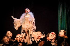 Marionettes from Ronnie Burkett's one-man show The Daisy Theatre.