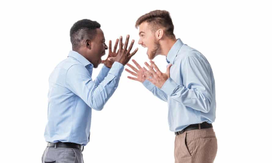 Two businessman arguing