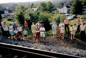 Paul Fusco: Robert Kennedy funeral train. Stokes St, Havre de Grace, MD, USA. 1968