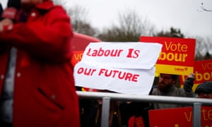 Banners in support of Labour
