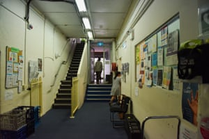 A hall in the Asylum Seekers Centre
