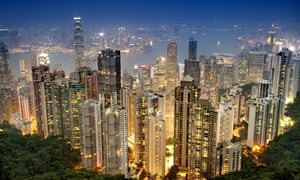 A skyline view of the skyscrapers of Hong Kong. The former British colony has new elections on 4 September.