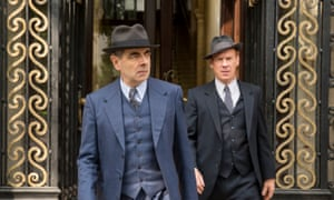 Rowan Atkinson and Shaun Dingwall in Maigret Sets A Trap