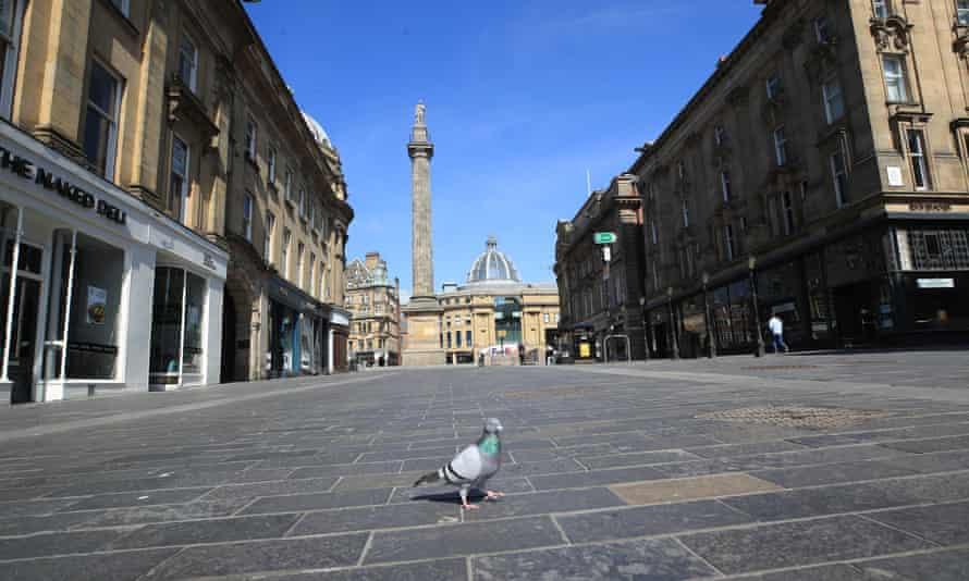 Empty street in Newcastle