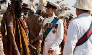 Matt Smith as Prince Philip in The Crown is unexpectedly dashing in uniform.