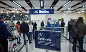 Passport control at Gatwick AirportPassport control at Gatwick Airport