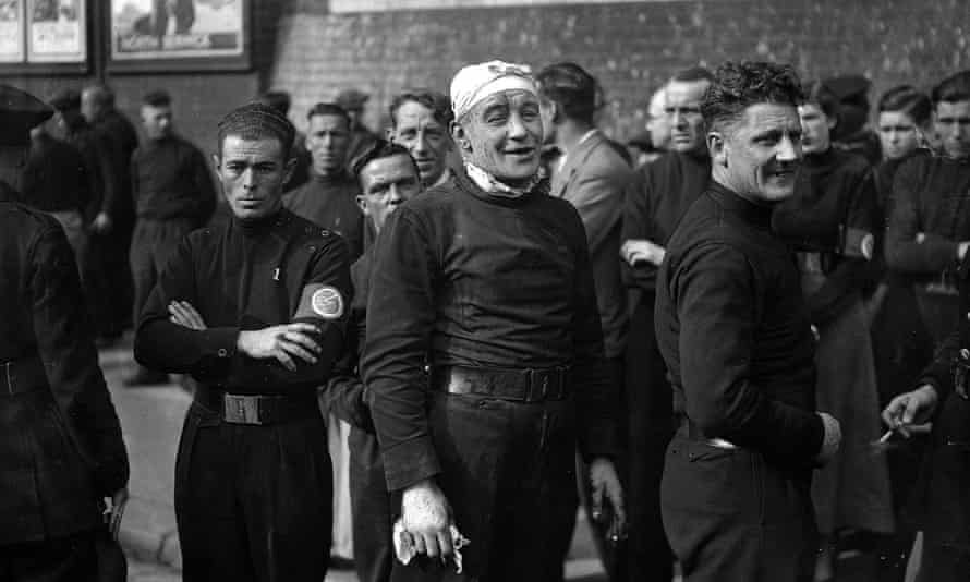 Fascists in London on the day of the battle of Cable Street, 4 October 1936.
