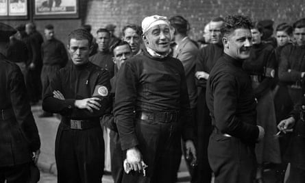 British fascists on the streets of London in 1936.