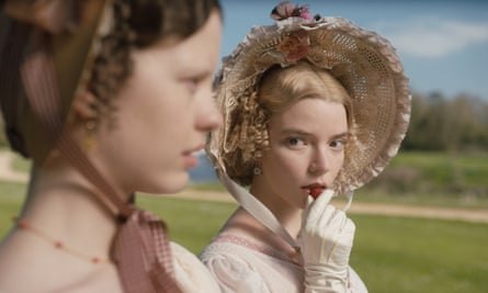 Mia Goth (left) as Harriet Smith and Anya Taylor-Joy as Emma Woodhouse in Emma.
