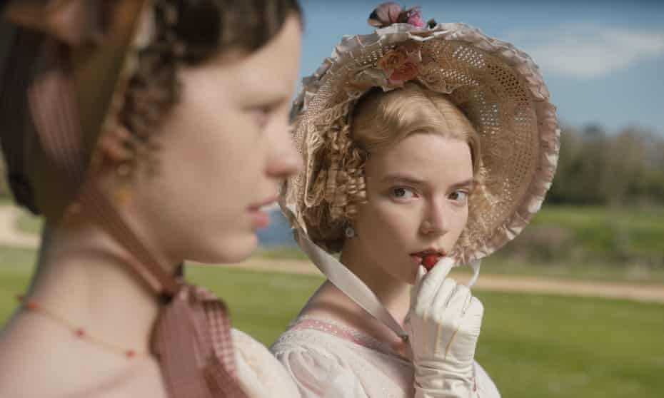 Mia Goth (left) as Harriet Smith and Anya Taylor-Joy (right) as Miss Woodhouse in Emma.