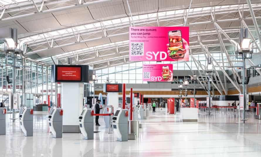 Sydney airport was quiet on Wednesday as states and territories imposed border restrictions in response to rising Covid case numbers, and NSW banned travel outside of metropolitan Sydney