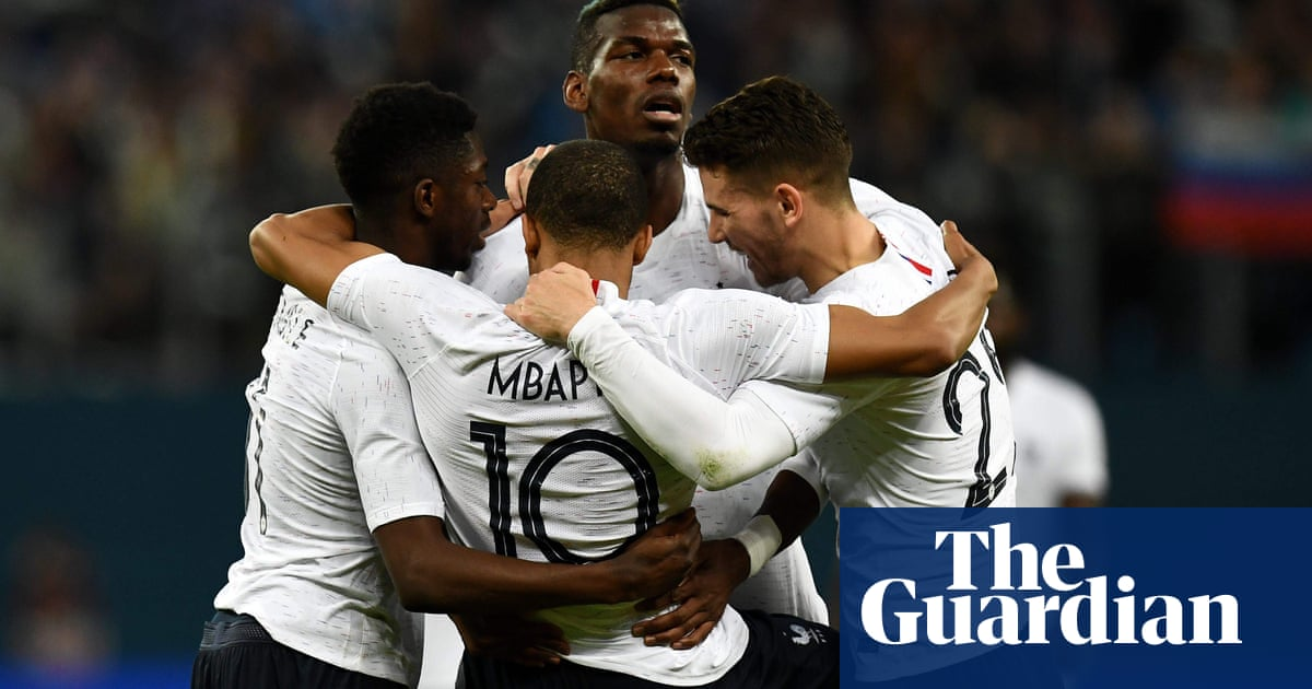 Kylian Mbappé and Paul Pogba fire France to friendly win over Russia ... 0d2e9c44ae62a
