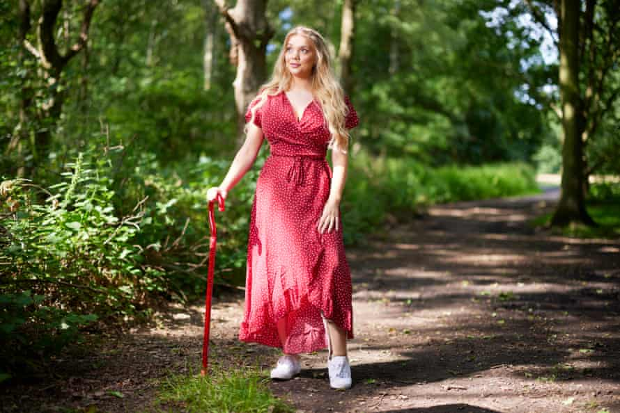 Lucy Dawson in a country park in Lincolnshire