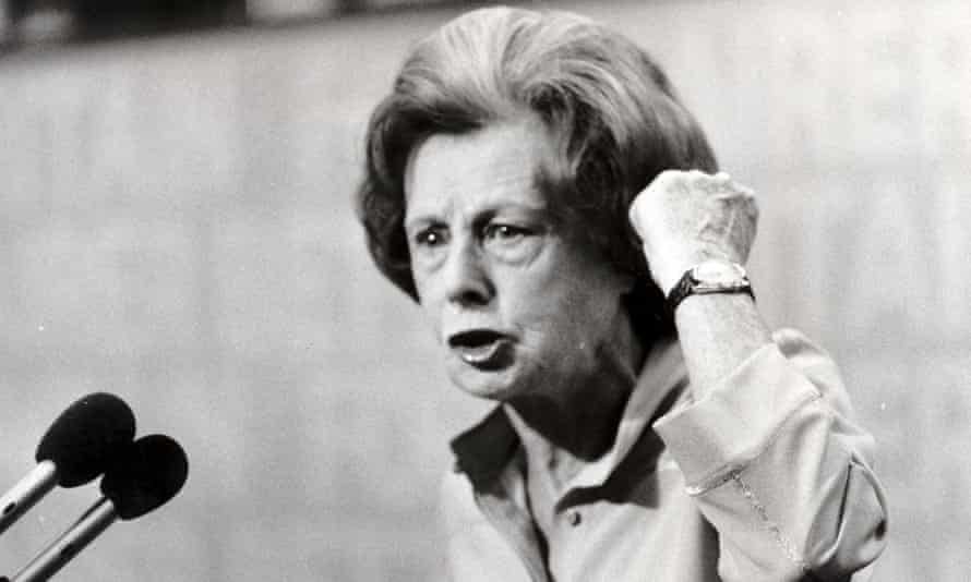 Barbara Castle speaking at a Labour conference in Brighton