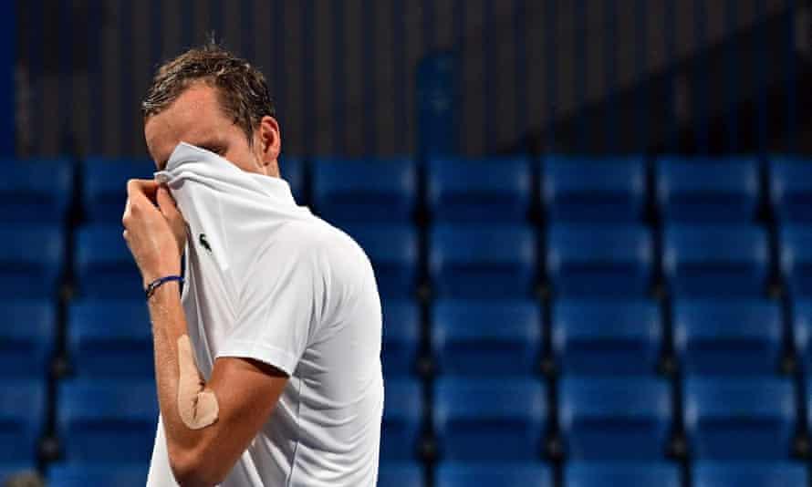 Daniil Medvedev needed two medical timeouts in his men's singles quarter-final