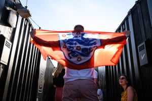 Hopeful England fans arrive before kick-off. Can England deliver their first victory in a World Cup knock-out match since Ecuador in 2006.