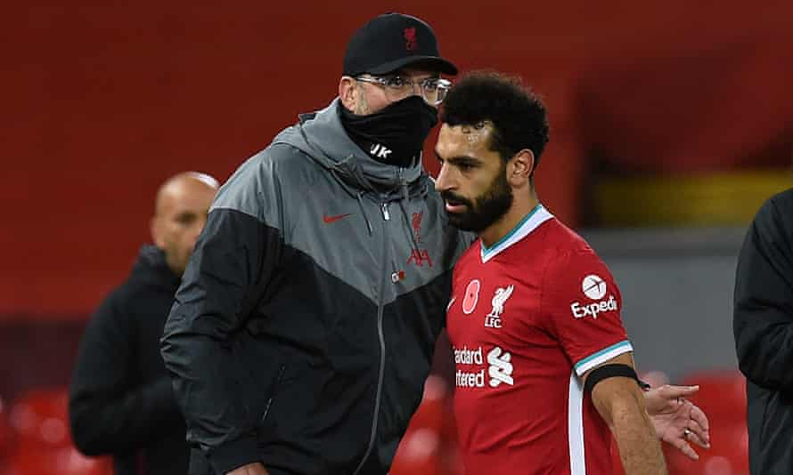 Jürgen Klopp said Liverpool's Mohamed Salah had three marks on his foot from the West Ham game and 'one of them is from the penalty situation'.