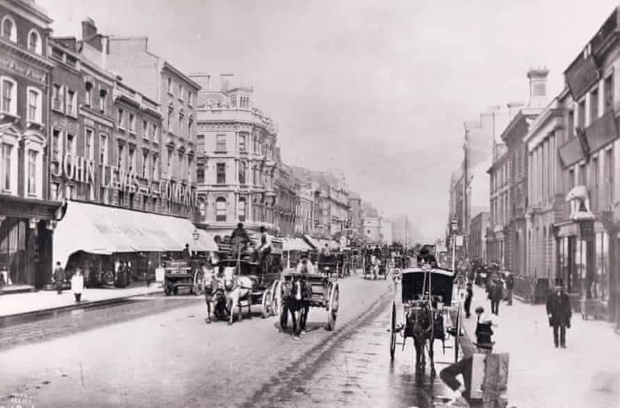 John Lewis Oxford Street exterior, circa 1885.