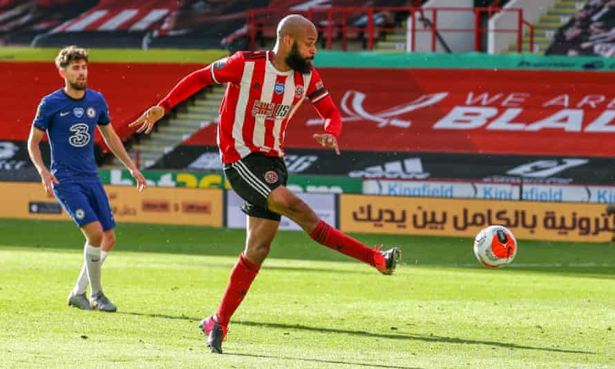 David McGoldrick scores the second of his two goals against Chelsea in July