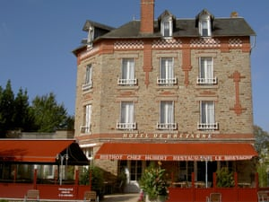 Exterior of Bistrot Chez Hubert, Brittany, France.
