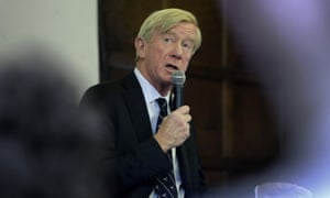 Bill Weld speaks at Tufts University in Medford, Massachusetts, on 16 October.