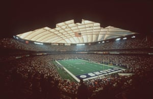 The Detroit Lions play in front of a packed hours during the Silverdome's heyday