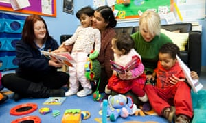 Sure Start centres in some counties are being closed because of cuts