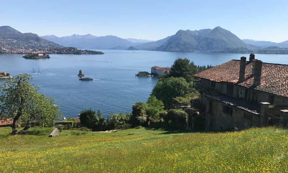 Lake Maggiore and the Borromean islands from Stresa